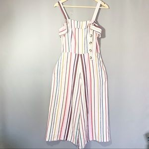 Beautiful Stripes linen culotte jumpsuit